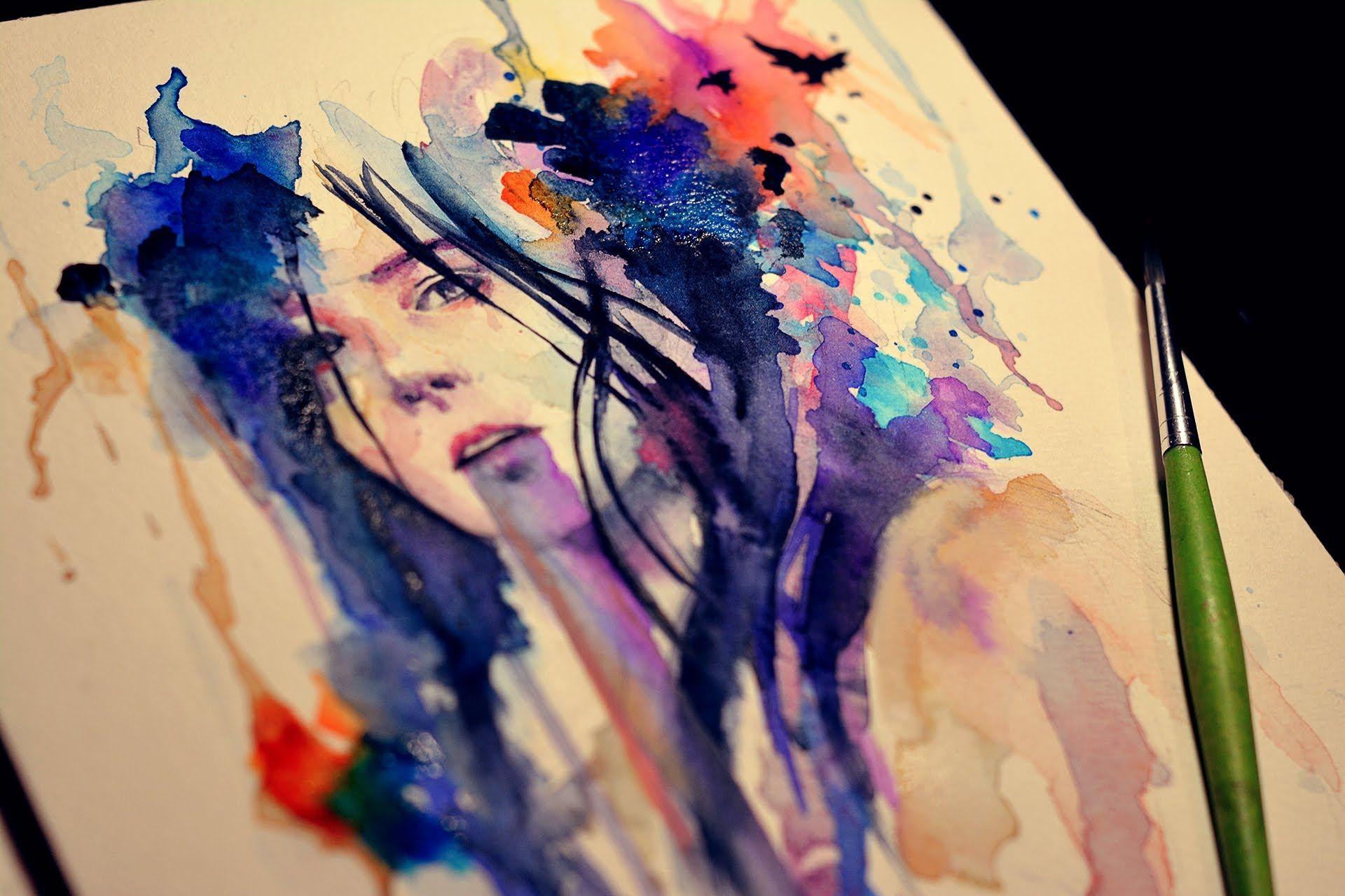 Dessin Et Peinture Video 1576 Portrait A L Aquarelle Et Encre