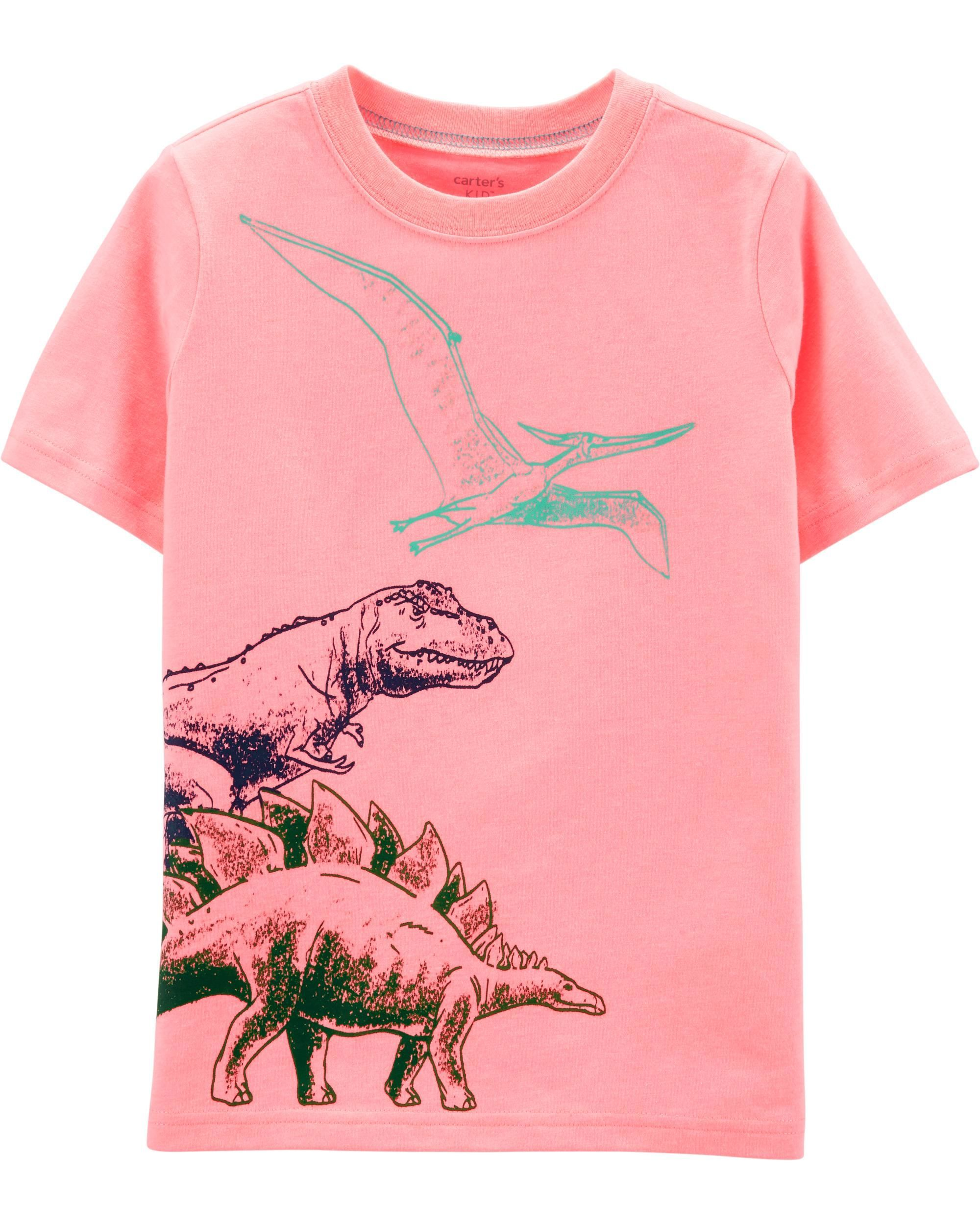 5be5f7211 Kid Boy Dinosaur Snow Yarn Jersey Tee | Carters.com Carter Kids, Short  Sleeve