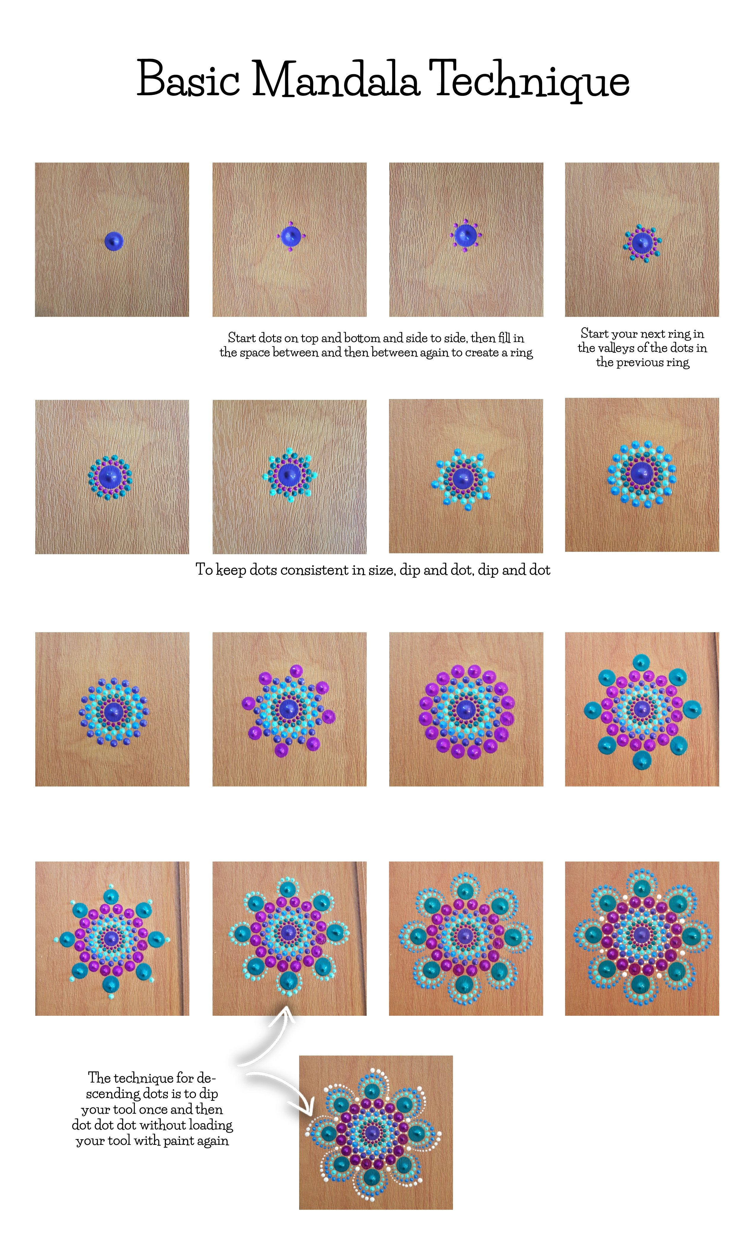 Learn how to dot paint mandalas!