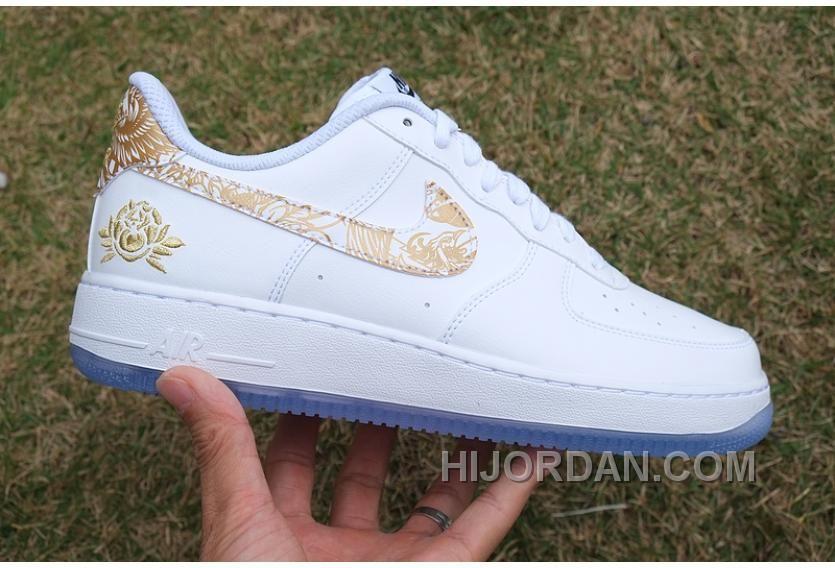 size 40 b5620 c89cb Air Force 1 Chinese New Year White Gold Peony Online N58BTwN Nike Air Schuhe,  Schuhe