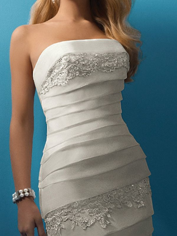 Breathtaking Strapless Embroidered Trumpet Gown of Tiers