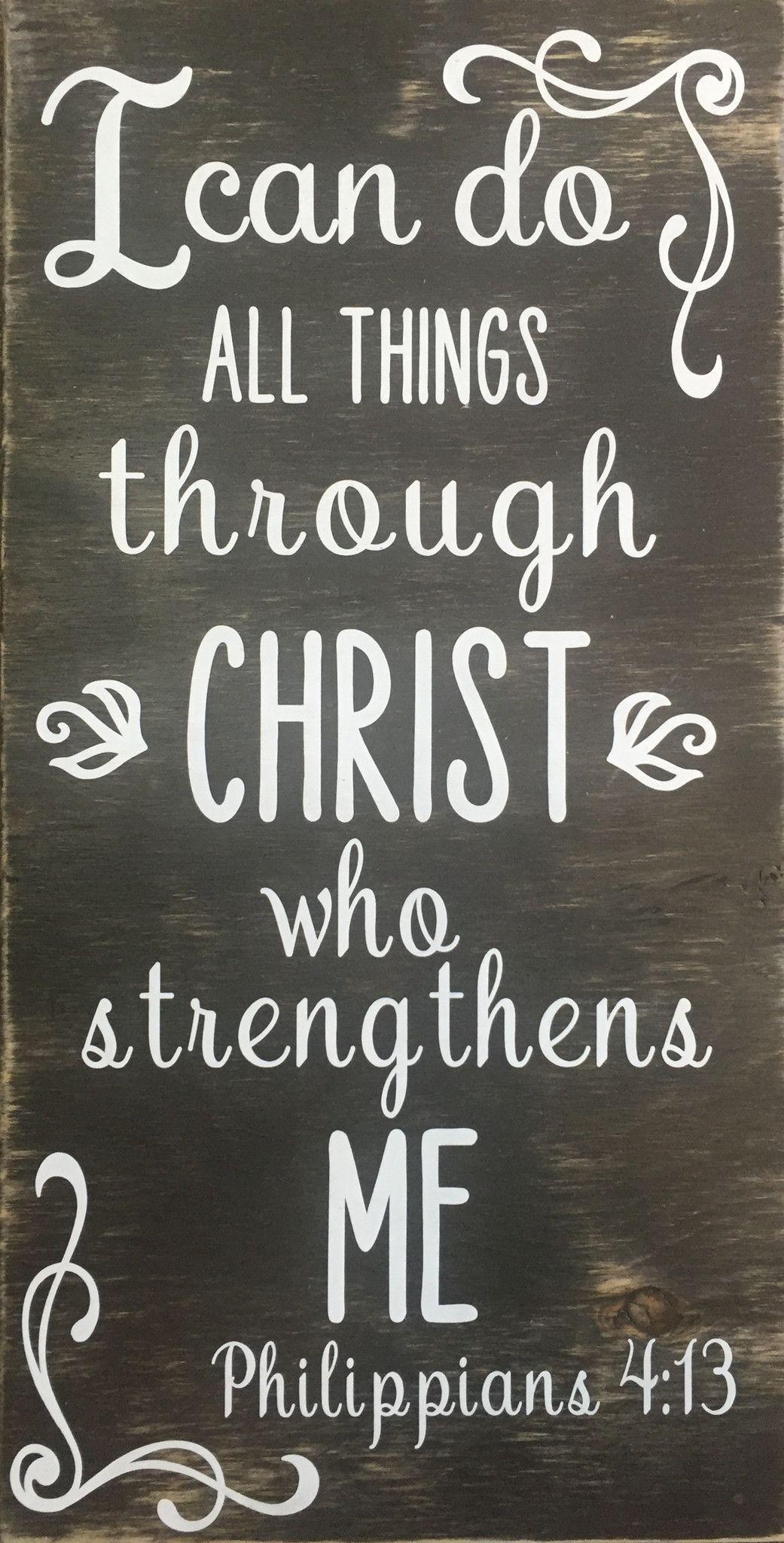 Wood Plaque- Scripture Philippians