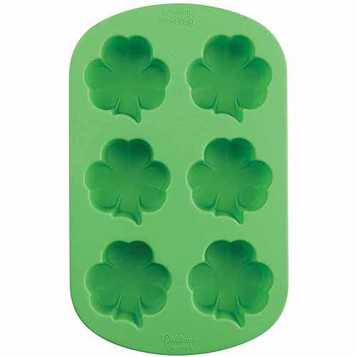 Wilton Silicone Baking Mold Shamrock Party Pinterest