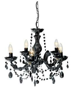Check And Reserve Collection Inspire Chandelier 5 Light Ceiling Ing Blk At Argos