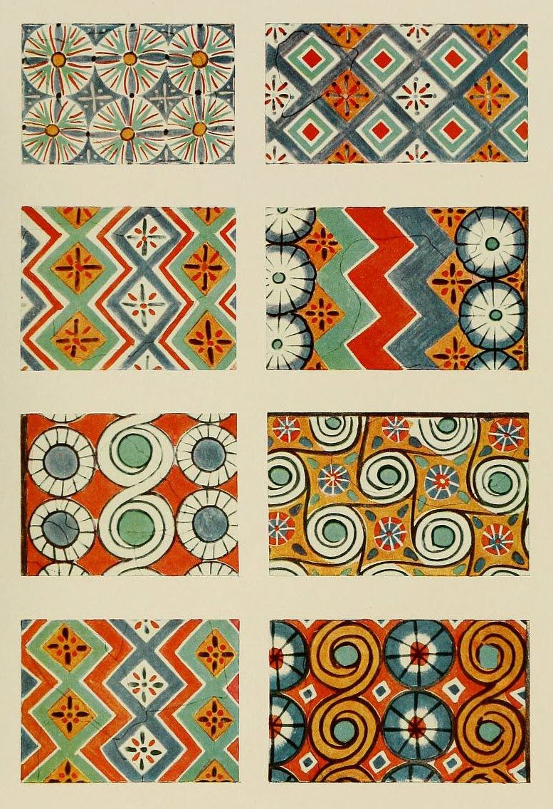 An encyclopaedia of colour decoration from the earliest times to the middle of the XIXth century (1928) In the Mary Ann Beinecke Decorative Art Collection. http://archive.org/stream/encyclopaediaofc00boss#page/n57/mode/2up