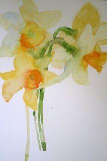 Watercolour Daffodil Tattoo Daffodil Watercolor Tattoo A Tisk It A Tat It Pinterest Flower Painting Floral Watercolor Watercolor Flowers Paintings