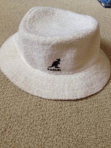 a000ed4c922 RARE Vintage KANGOL Bucket Hat Bermuda Terry Cloth White Made in Great  Britian