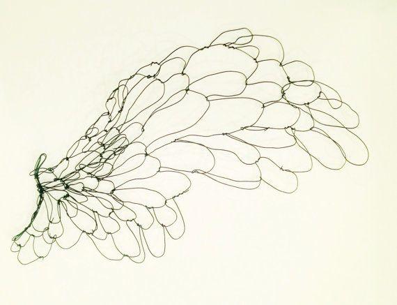 Wire wall art - Wing - Large Sculpture - bird wing sculpture - gift ...