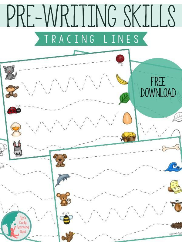 Essential Pre Writing Skills I Can Trace Lines Liz S Early Learning Spot Pre Writing Activities Pre Writing Prewriting Skills Free download tracing lines worksheets