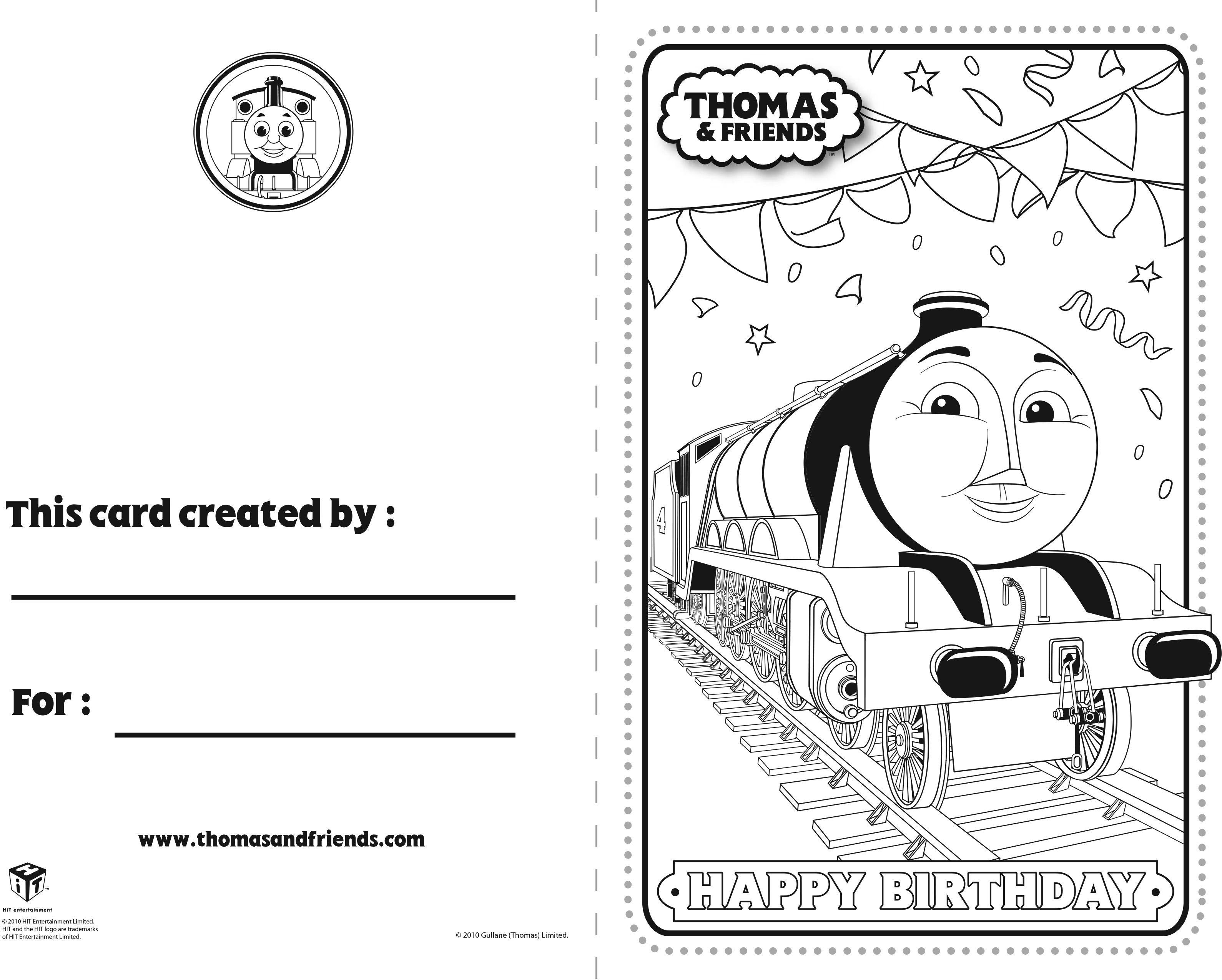Thomas And Friends Birthday Card Gordon