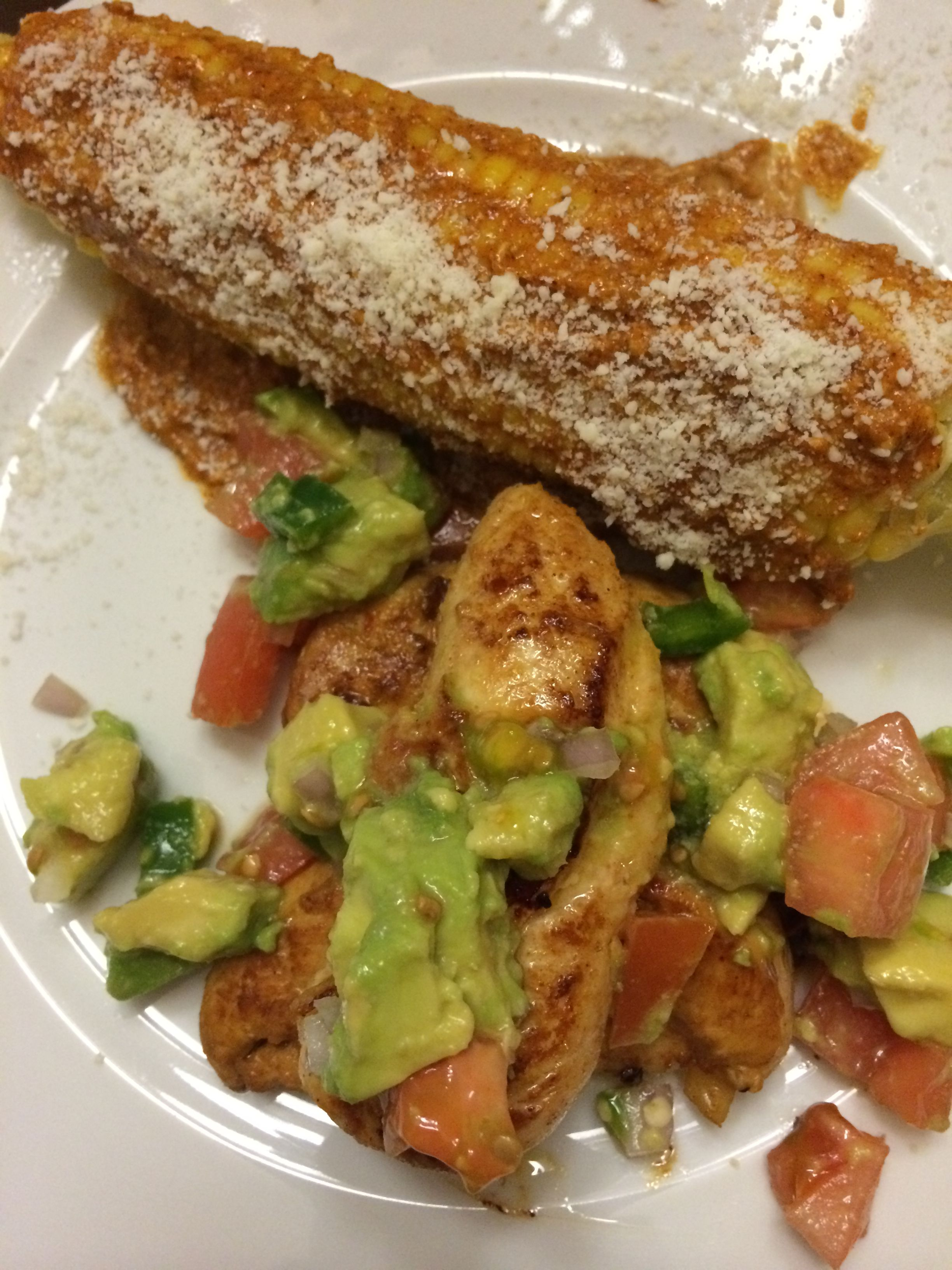 Serrano chicken and mexican corn healthy cook books