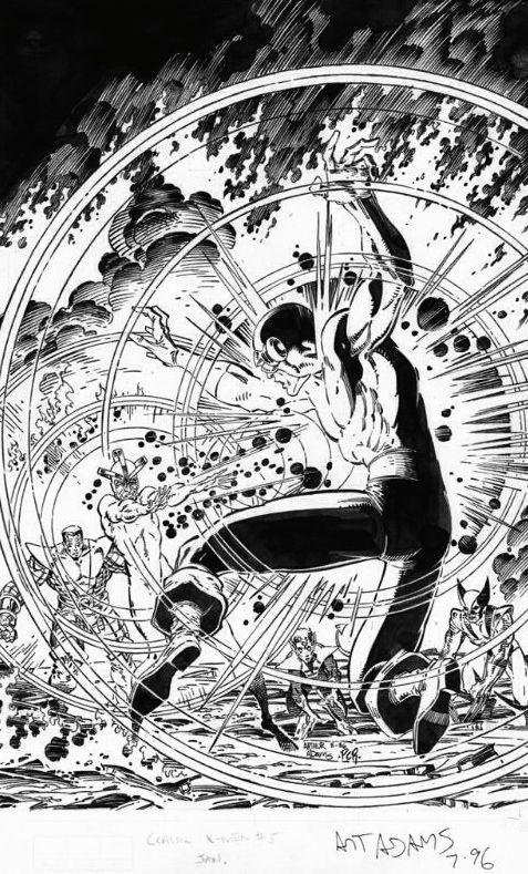Havok Cyclops Classic X Men 05 Arthur Adams Black And White Artwork Art Artwork