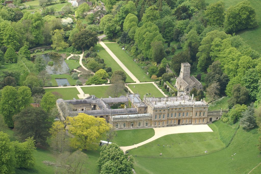 Aerial View Of Dyrham Park Gloucestershire Landscape Design Aerial View Gloucestershire