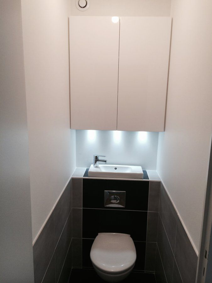 Toilette suspendu avec lave main wc suspendu une lave main for Wc gain de place villeroy et boch