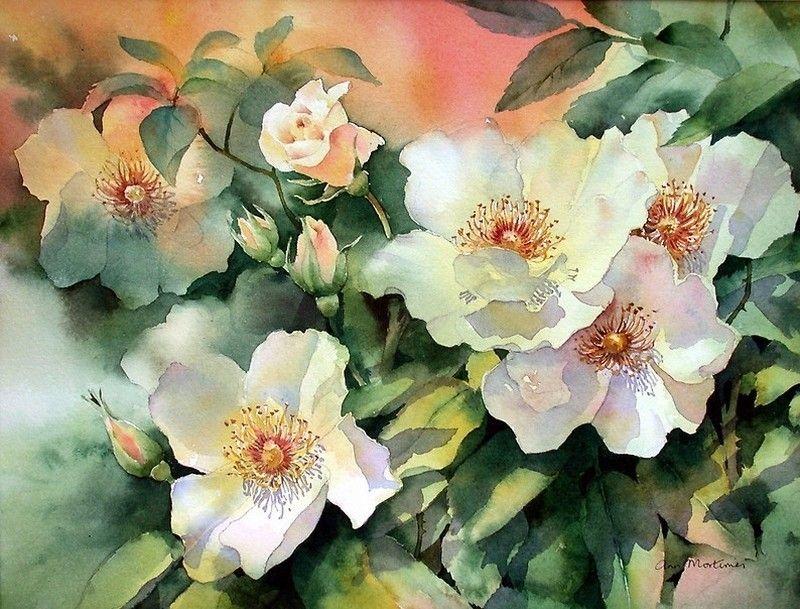 Рамблер-Почта | Suluboya çiçekler, Sulu boya, Suluboya