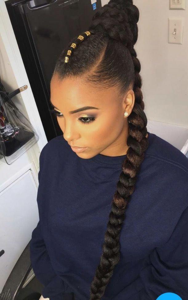 Love Her Hair Stule Afro Curly Black Woman Braid Braids Hair Bun Crochet Chignons Afro Coiffure Coiffure Afro