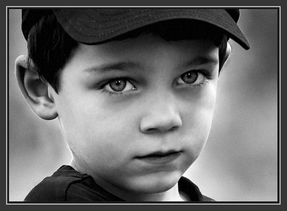 Black And White Portrait Child