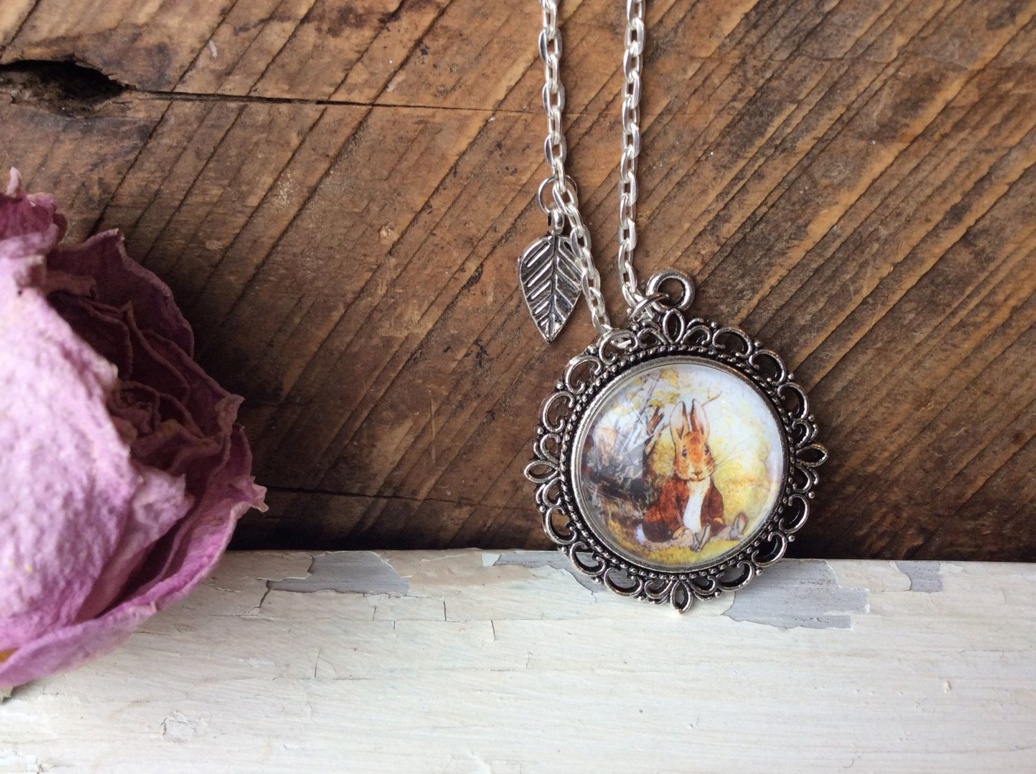 Easter day bunny gifts kids toddlers girls beatrix potter pendant easter day bunny gifts kids toddlers girls beatrix potter pendant vintage easter women teens moms tale negle Image collections