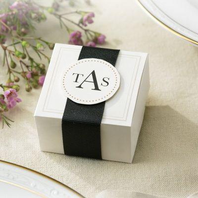 Elegant Ivory Wedding Favor Box Kits   Wedding Favors