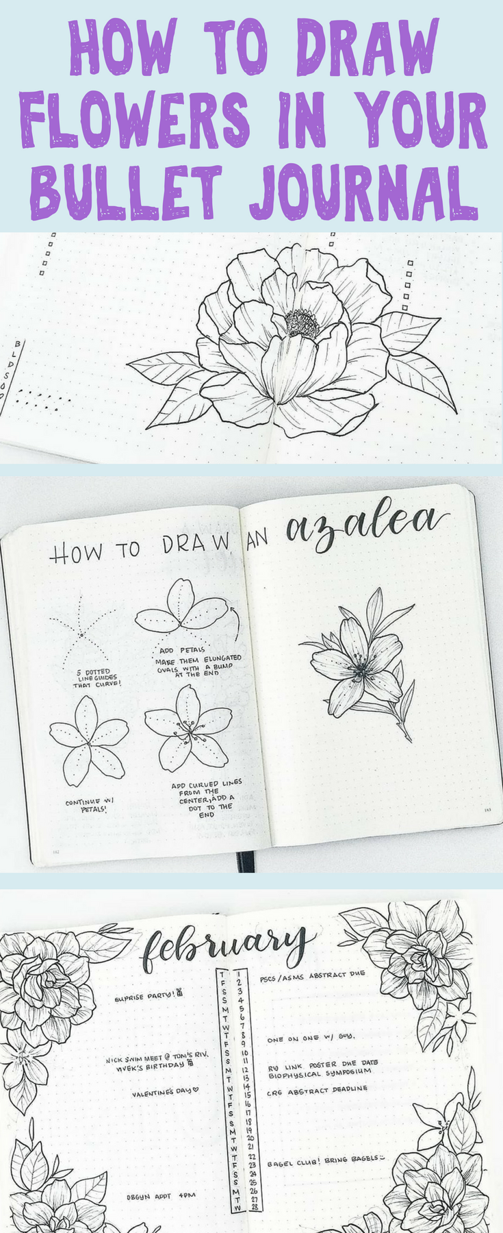 Planner Doodles Galore Get Tons Of Ideas On How To Draw The Most Stunning Flower Doodles To Decorate Your Planners And Bullet Journal Planner Doodles Journal