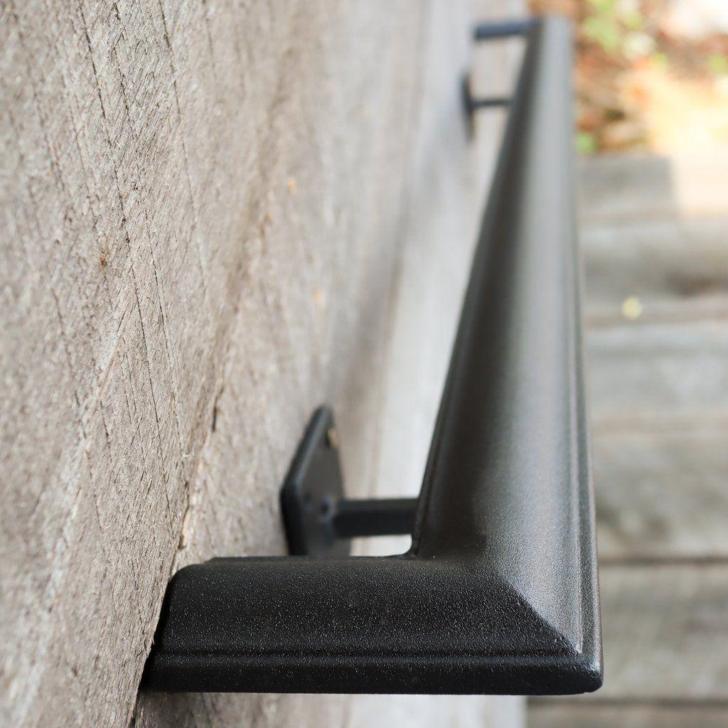 Metal Handrail With Square Returns Ada Compliant Return Wall Mount Grab Rail Victorian Stair Rail Metal Handrails Metal Handrails For Stairs Stair Railing