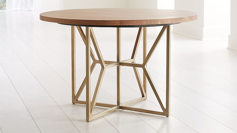 Hayes 48 Round Acacia Dining Table Crate And Barrel In 2020