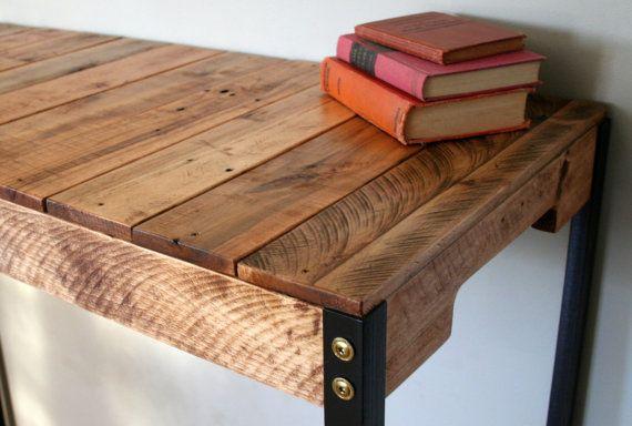 Rustic Reclaimed Wood Standing Desk
