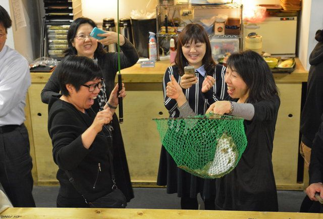 JAPAN-CATCH YOUR OWN FISH RESTAURANT!