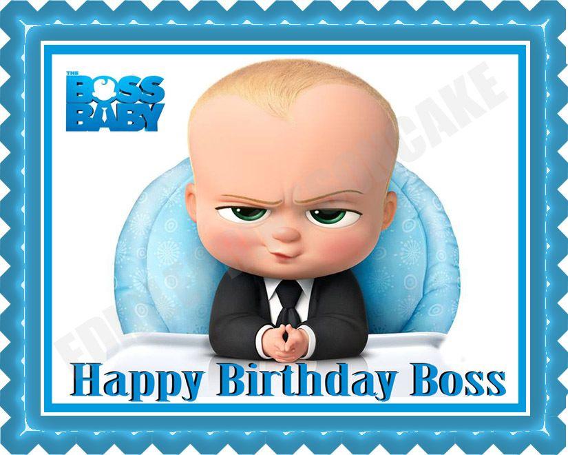 the boss baby edible cake topper or cupcake topper decor baby shower pinterest film. Black Bedroom Furniture Sets. Home Design Ideas
