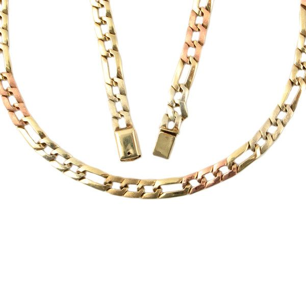 Tri Tone Gold Chain Necklace Over 1 2 Ounce Gold Chain Necklace Vintage Gold Chain Mexican 10k G Gold Chain Necklace Yellow Gold Jewelry Vintage Necklace
