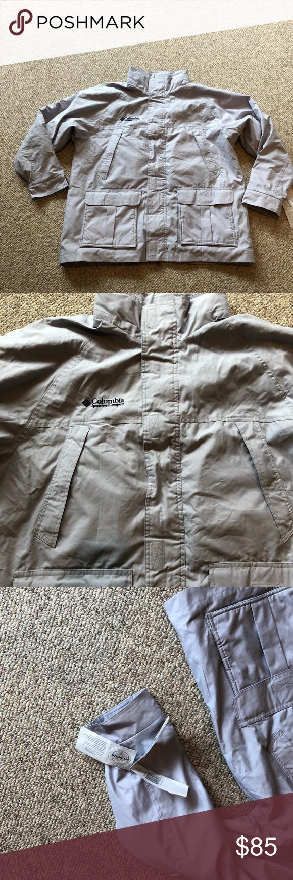 Nwt vintage columbia grey titanium parka jacket l my posh closet