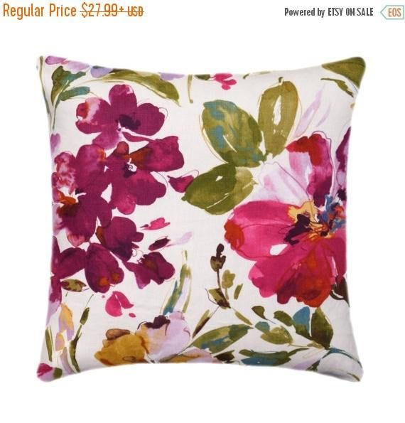 Huge Colorful Fl Pillow Cover Fuchsia 18 19 20 21 Inch Large Flower Hot Pink