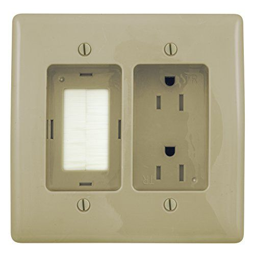 Bryant Electric Rr1512i 2 Gang Recessed Tv Connection Out Https Www Amazon Com Dp B013gfq1vc Ref Cm Home Theater Installation Flat Panel Tv Outlet Plates
