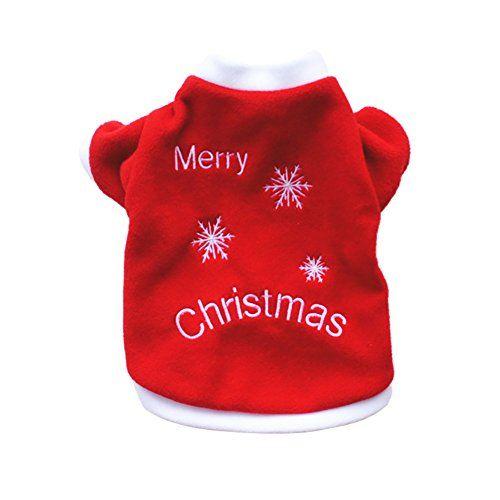 9432a635dcf86 LAAT Vêtements de Noël pour Chien Manteau Habit Chiot Vêtements Pour Les  Petites et Moyennes Chien