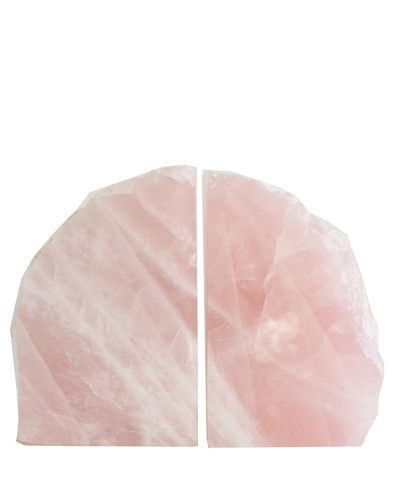 Rose Quartz Agate Bookends