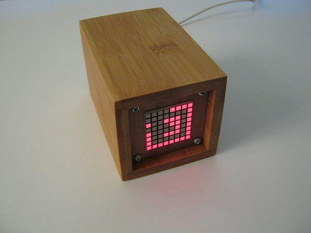 Arduino led matrix clock projects pinterest