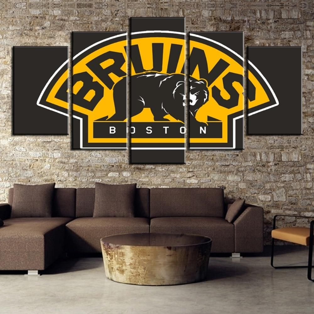 Boston Bruins American Ice Hockey 5 Pcs Canvas Art Wall