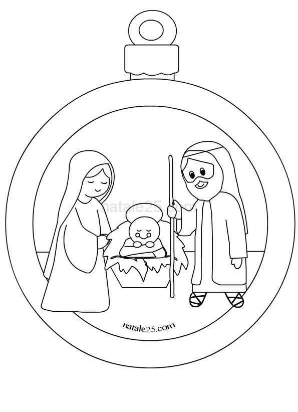 Presepe Da Colorare E Ritagliare Per Bambini.Addobbi Di Natale Da Colorare E Ritagliare Natale Natale Cristiano Palline Di Natale