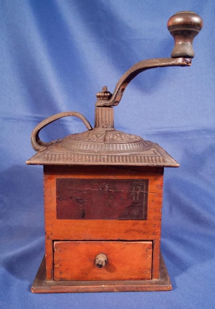 Antique CAST IRON Enterprise COFFEE GRINDER MILL ...  |Coffee Grinders Antique Label