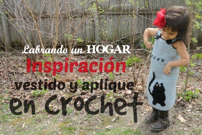 Inspiración ¡vestido y aplique en crochet! muy fácil y con un resultado hermoso #labrandounhogar #crochet #tejer