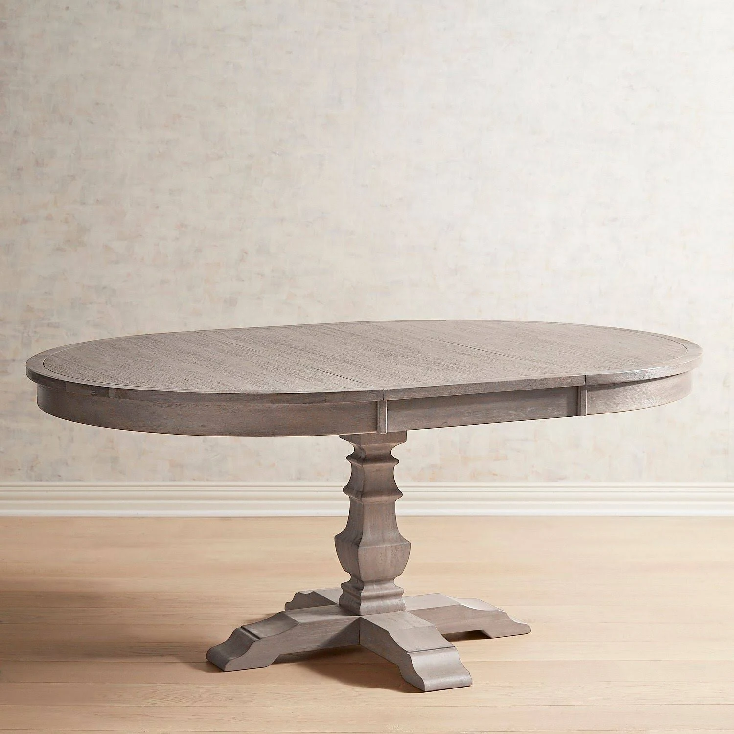 Bradding Shadow Gray Round Extension Dining Table Dining Table