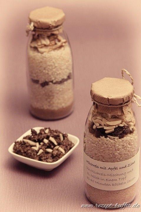 Kleines Mitbringsel Schoko Milchreis Mischung im Glas Geschenke - weihnachtsgeschenke aus der küche
