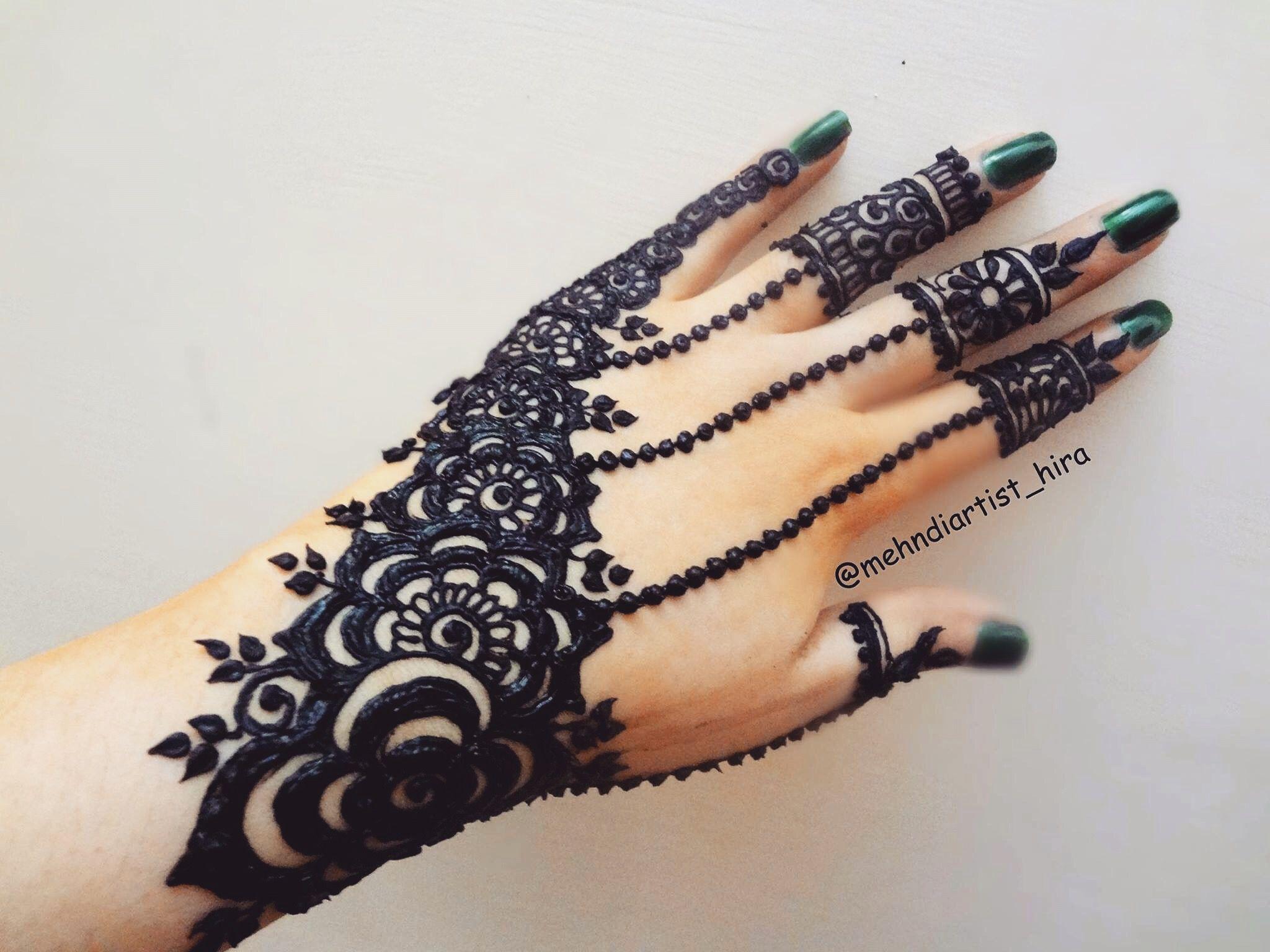 Henna Mehndi Nail Art : Mehndi nail art hennas and mehendi