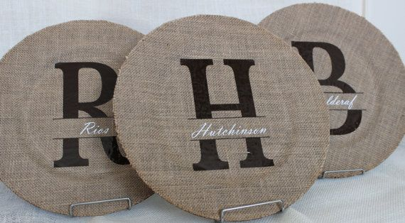Burlap Charger - Plate, Decorative/Personalized | For the Home ...