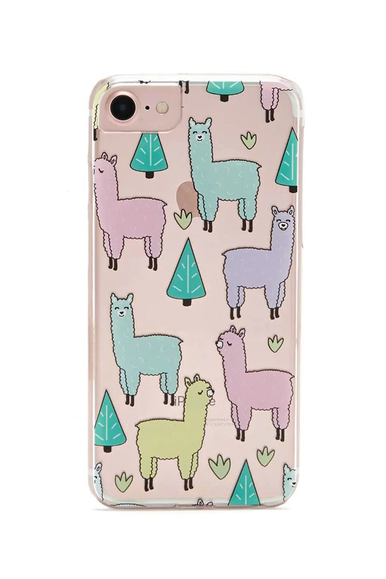 various colors b4977 09352 A clear hard shell phone case with allover graphics of llamas and ...