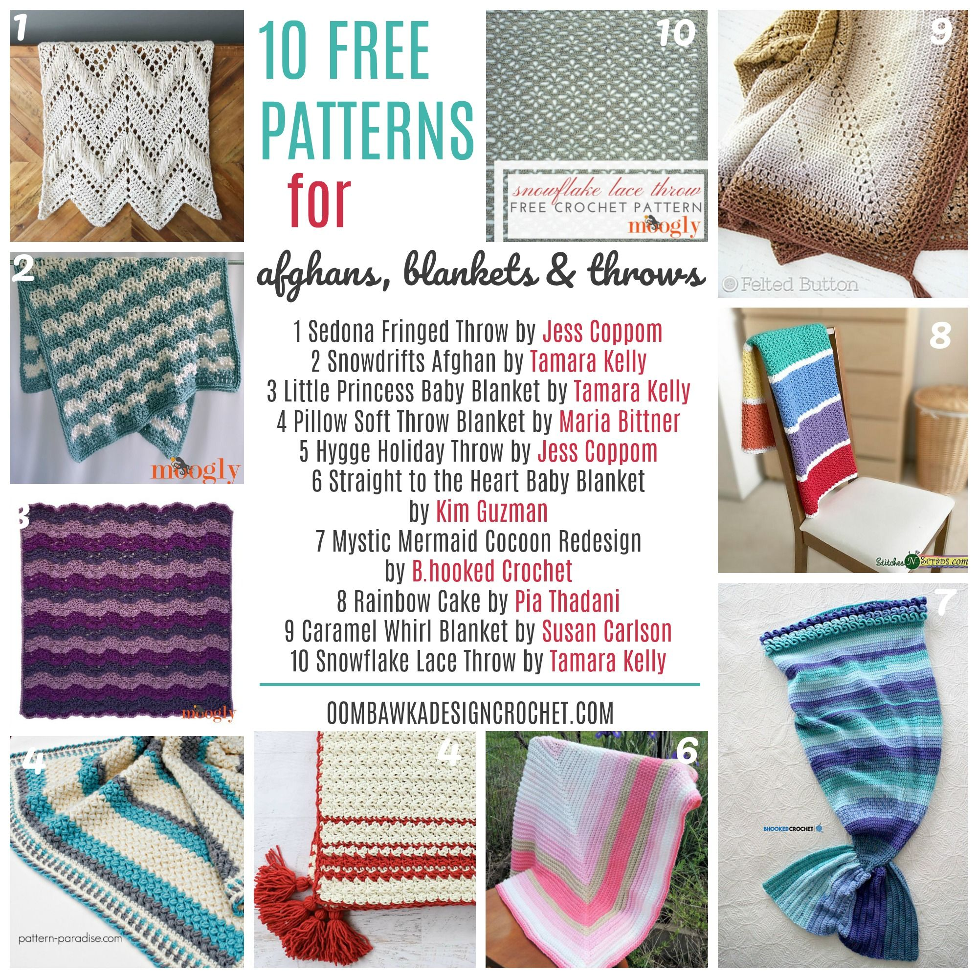Friday Free Crochet Patterns - Afghans, Blankets and Throws   Tejido
