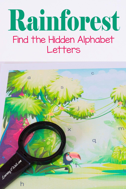Find The Hidden Preschool Letters Rainforest Alphabet Game