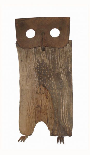 wooden owl from rusty hoe Pina Macku - Love the simplicity of this piece