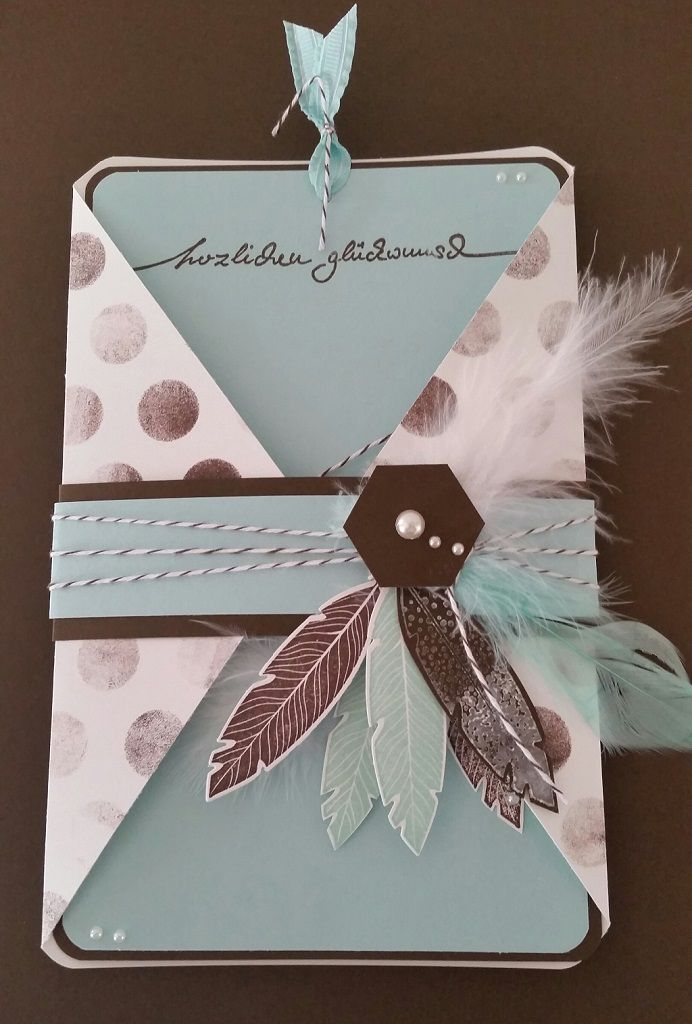 Geburtstagskarte Basteln Frau.Kleine Geburtstagskarte Fur Die Frau Mama Four Feathers V