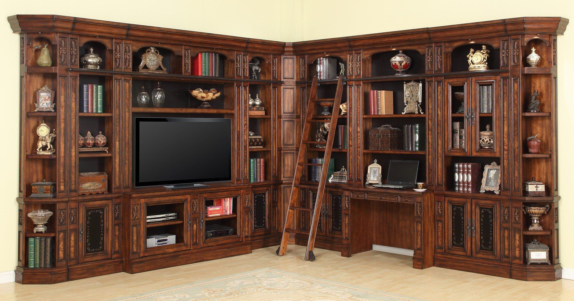 Leonardo Modular Library Wall Parker House Library Wall Entertainment Wall Units